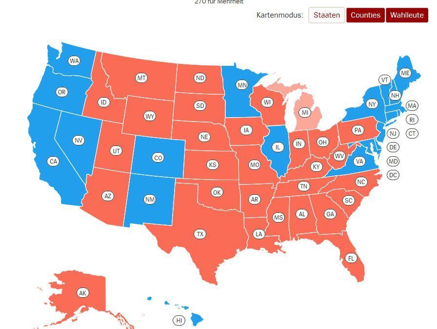 Us Wahl 2016 Ergebnis Der Wahlen In Den Usa Der Spiegel
