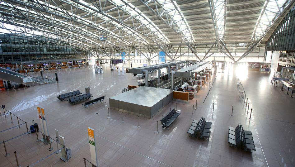 Flughafen Hamburg: fast menschenleer
