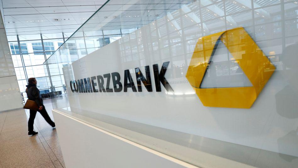 Logo in der Commerzbank-Zentrale