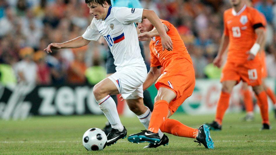 Arschawin 2008 gegen die Niederlande