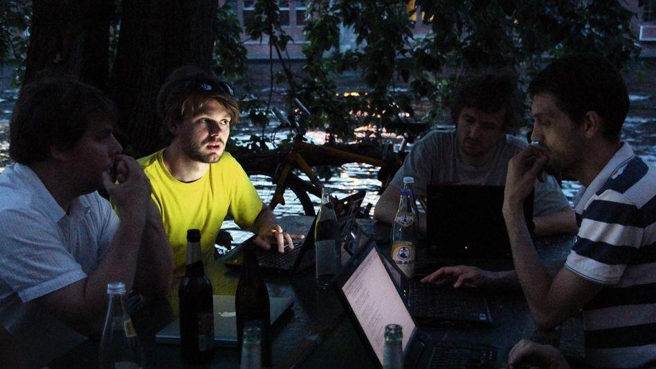 Freifunker-Treffen im C-Base in Berlin