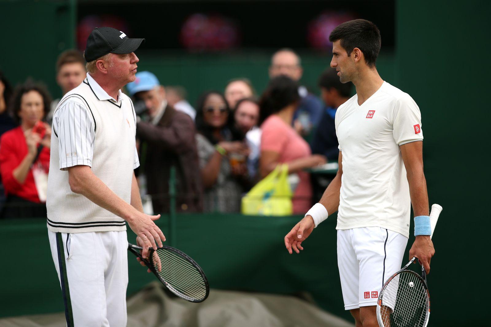 Boris Becker/ Novak Djokovic