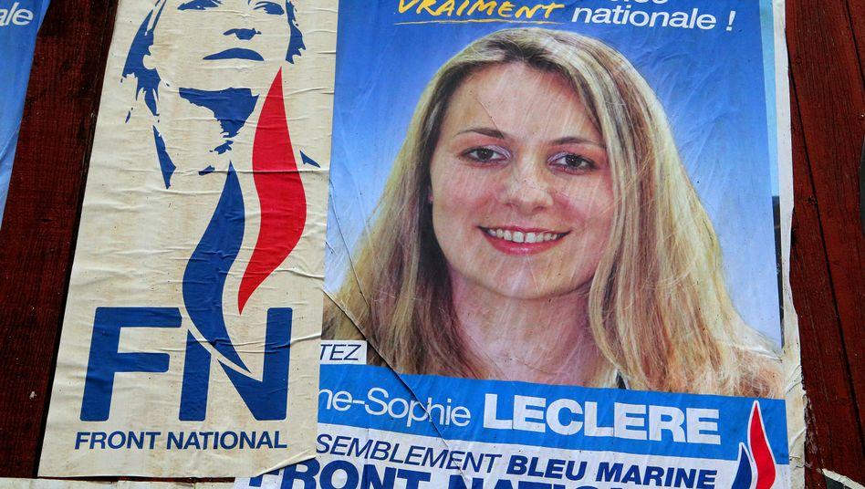 Politikerin Leclère (Wahlplakat vom Oktober 2013): Haftstrafe nach rassistischer Beleidigung