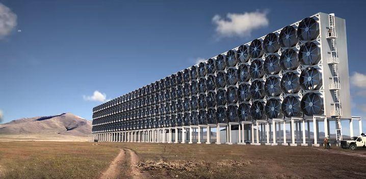 Modellierung einer CO₂-Filteranlage von Carbon Engineering