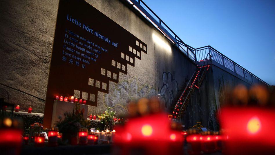 Gedenkstätte an der Love-Parade-Unglücksstelle in Duisburg
