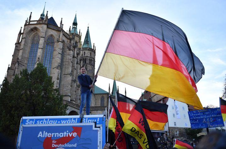 Wahlkampfabschluss der Thüringer AfD in Erfurt