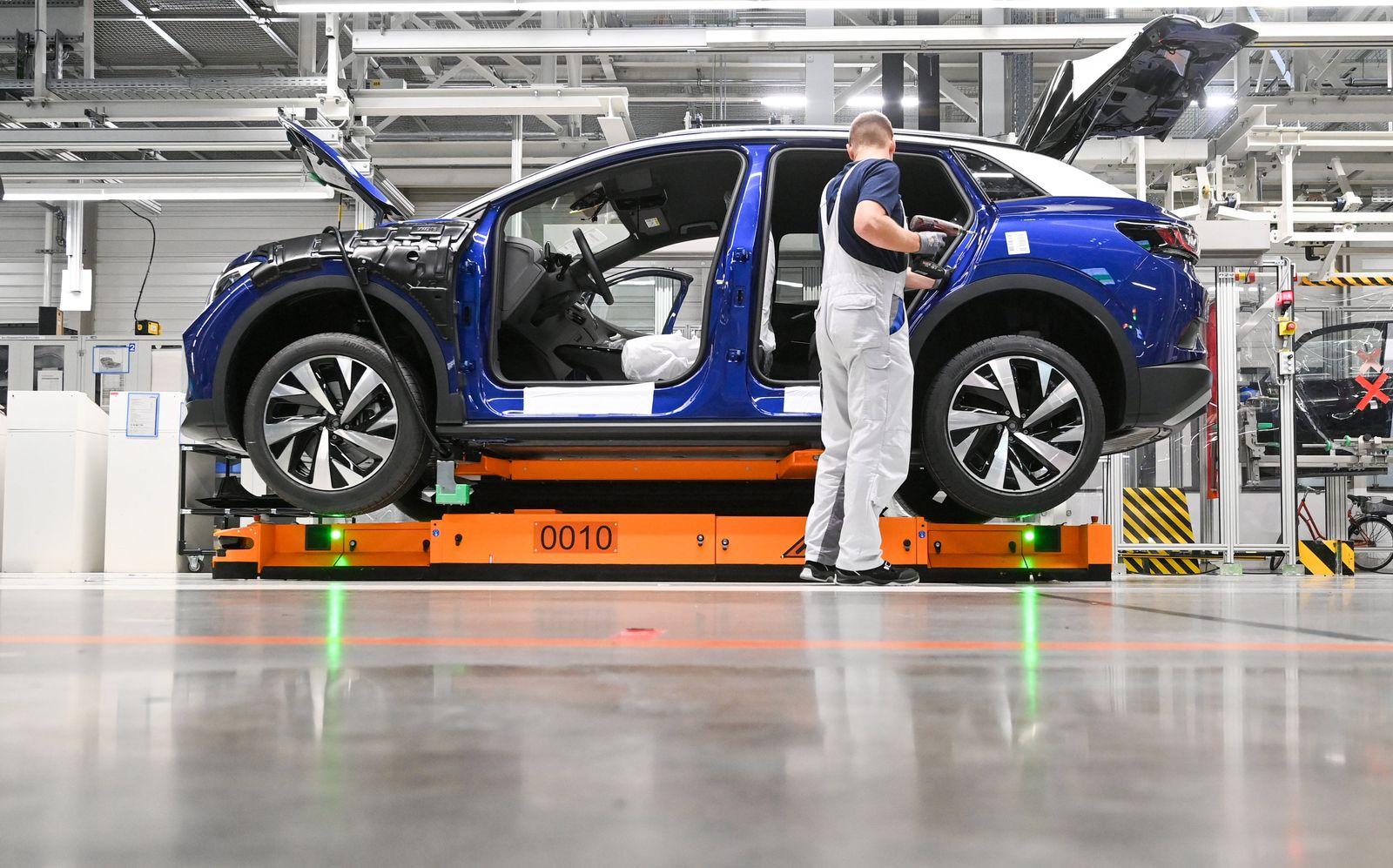 Produktion des VW-Elektroautos ID.4