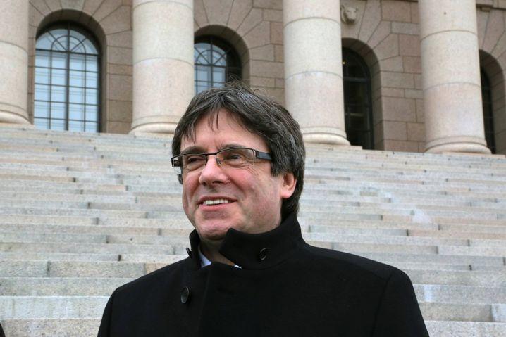 Puigdemont am 22 März 2018 im finnischen Helsinki.