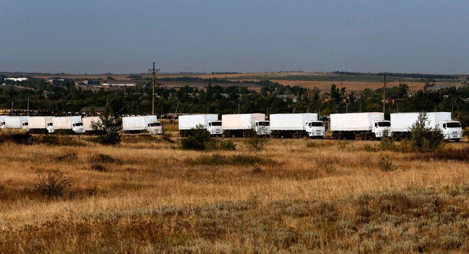 Hilfskonvoi in Bewegung: Russland hat die Weiterfahrt der Lastwagen angeordnet