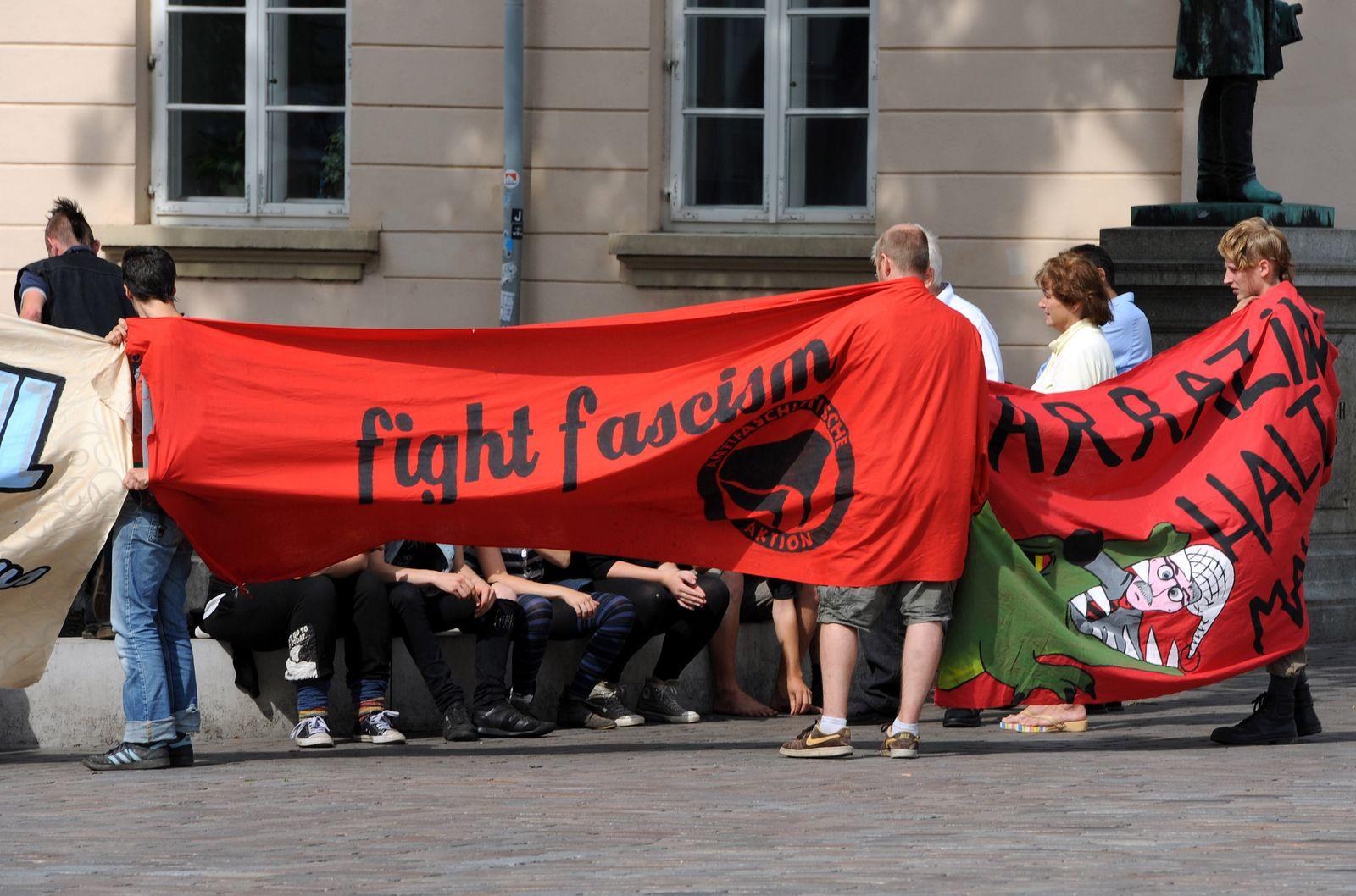 Wahlkampfveranstaltung der AfD - Proteste
