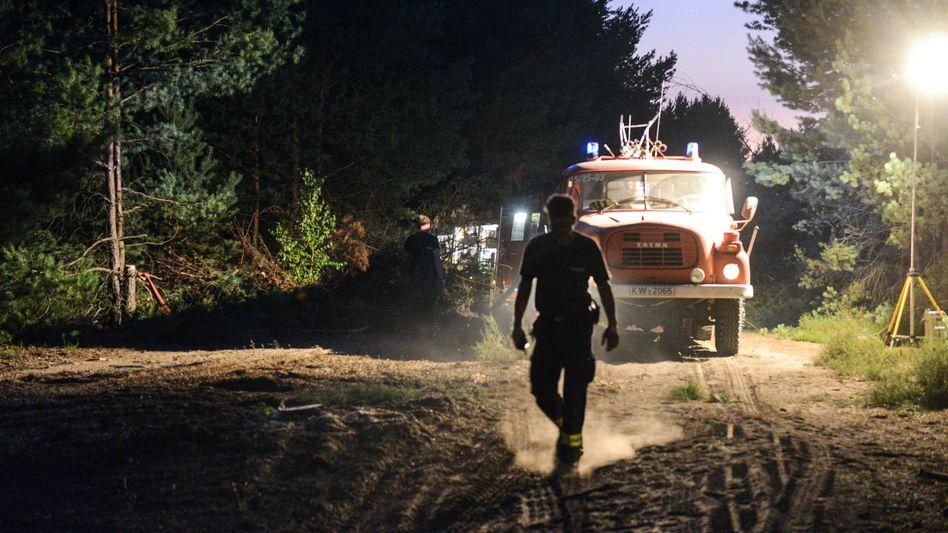 Feuerwehreinsatz in Südbrandenburg