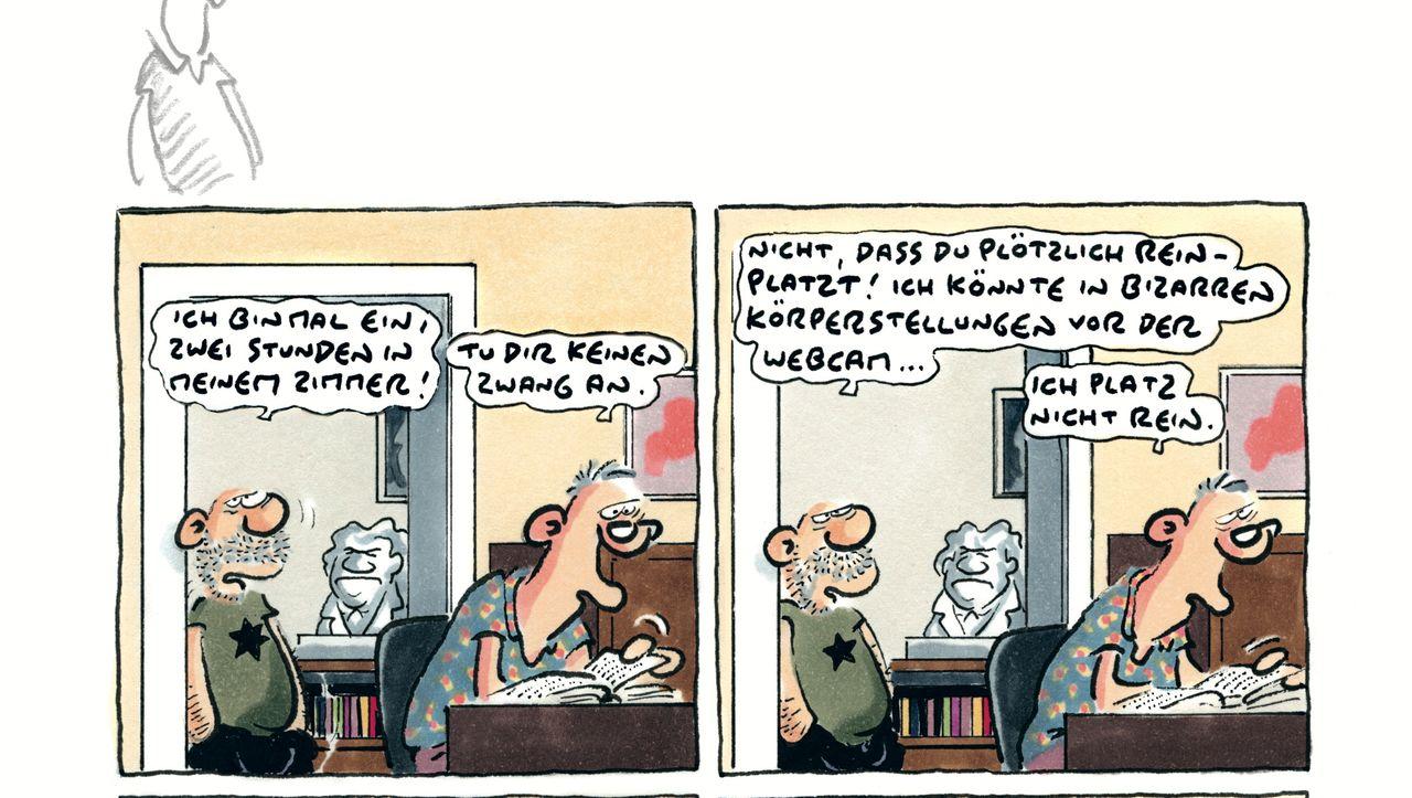 Corona-Comics von Ralf König: Nicht mal mehr Ruhe zur Selbstbefriedigung - DER SPIEGEL