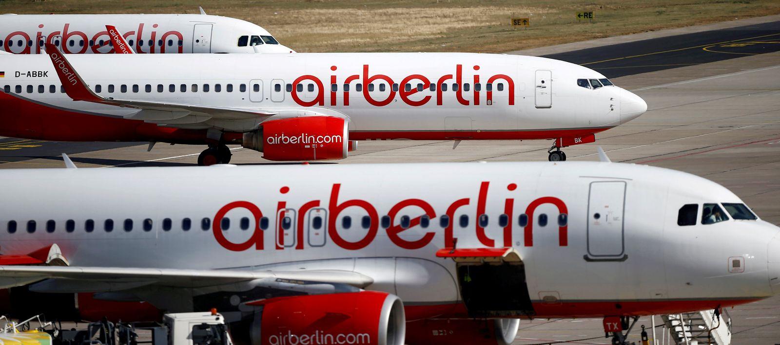 EINMALIGE VERWENDUNG Air Berlin/ Insolvenz
