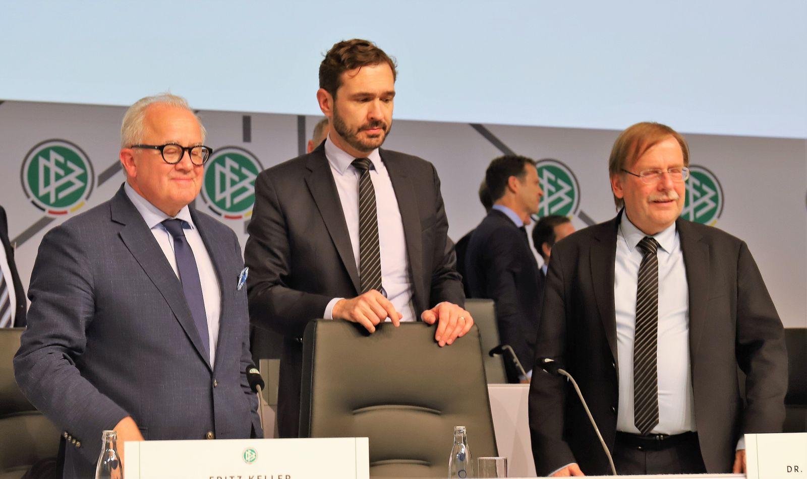 27.09.2019 GER, Frankfurt am Main, Messe Congresscenter DFB-Bundestag 2019 - Der neue DFB-Präsident Friedrich Fritz Walt