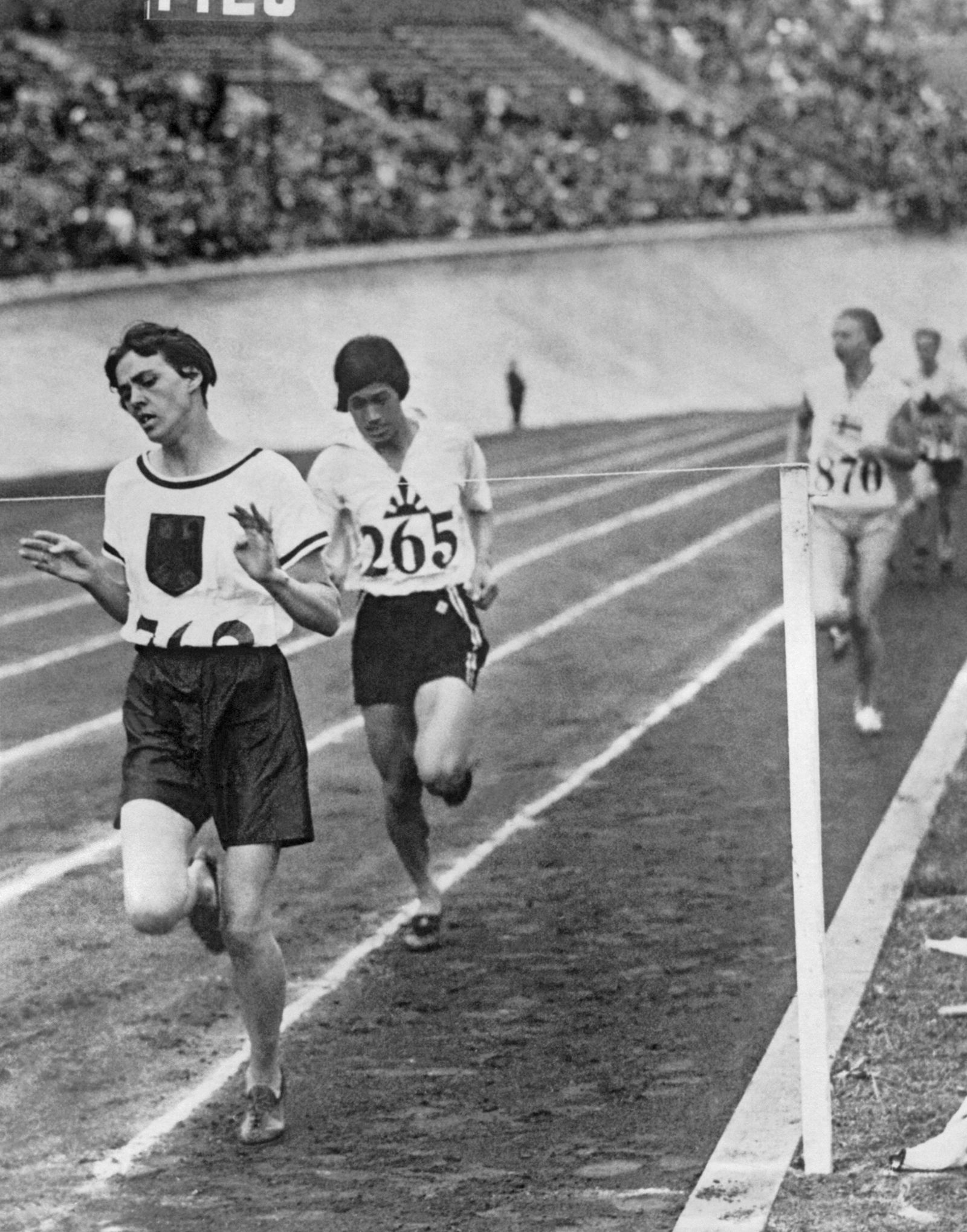 Amsterdam Netherlands 1928 German runner Lina Radke wins the women s 800 meter race in the 1928 Su