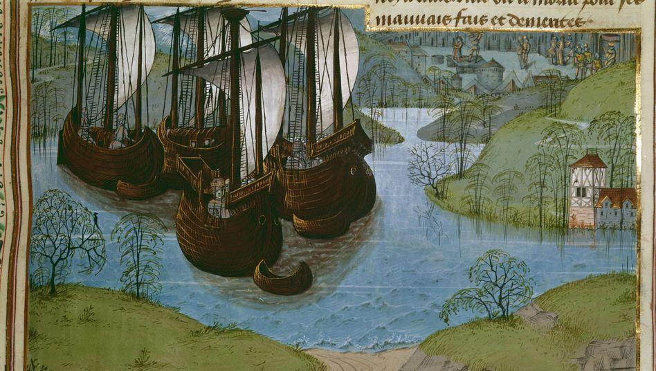 """Englische Flotte (circa 1470): """"Seeschlachten unterschieden sich kaum von Landschlachten"""""""