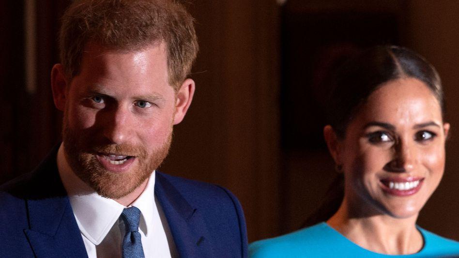 Prinz Harry mit Frau Meghan (Archivbild)