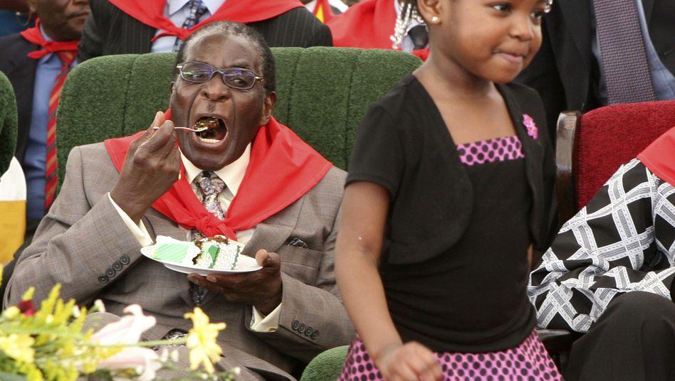 Simbabwes Präsident Mugabe: Eisiges Schweigen am Tisch