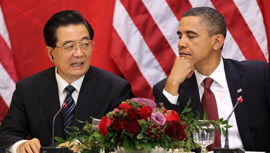 Chinas Präsident Hu Jintao, US-Präsident Barack Obama: Angespannte Beziehung