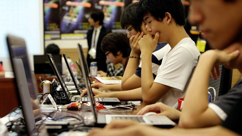 Südkoreanische Hacker bei einem Wettbewerb (Archivbild): Angriff aus China?