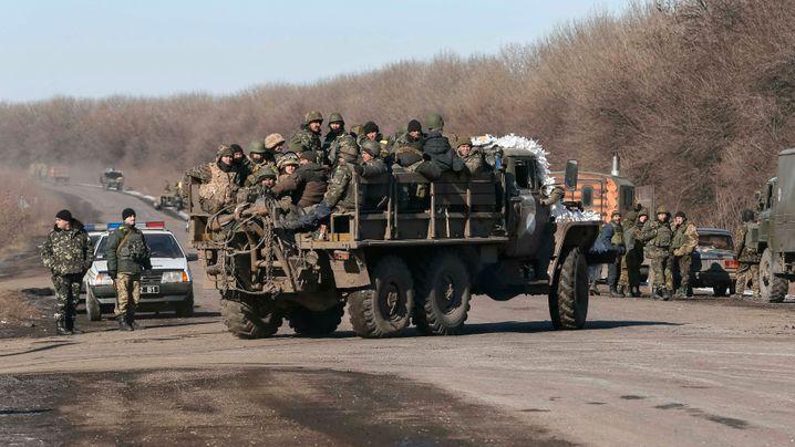 Ukrainische Truppen: Abzug aus Debalzewe