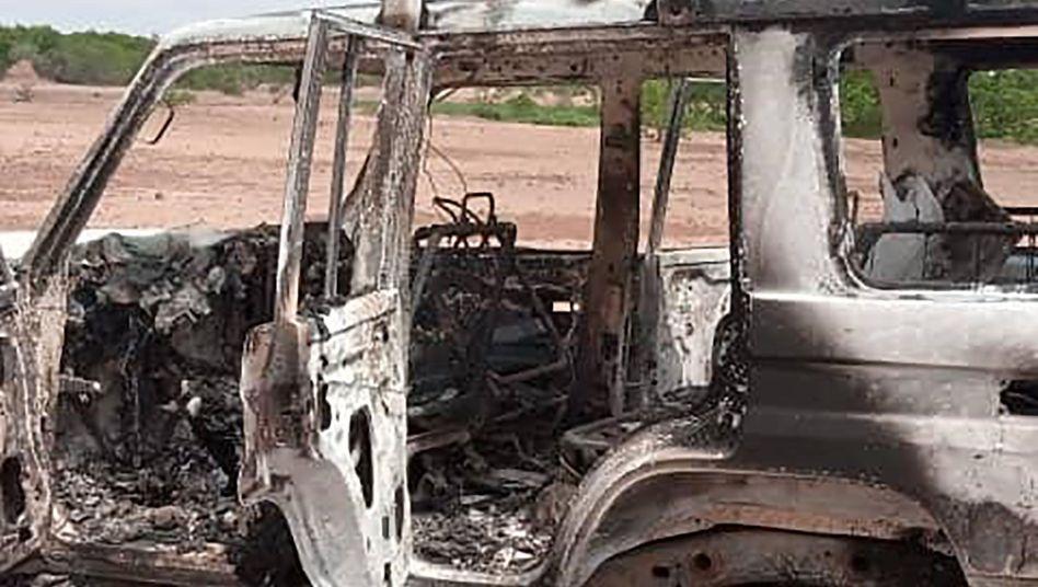 Das Auto, mit dem die acht Opfer unterwegs waren