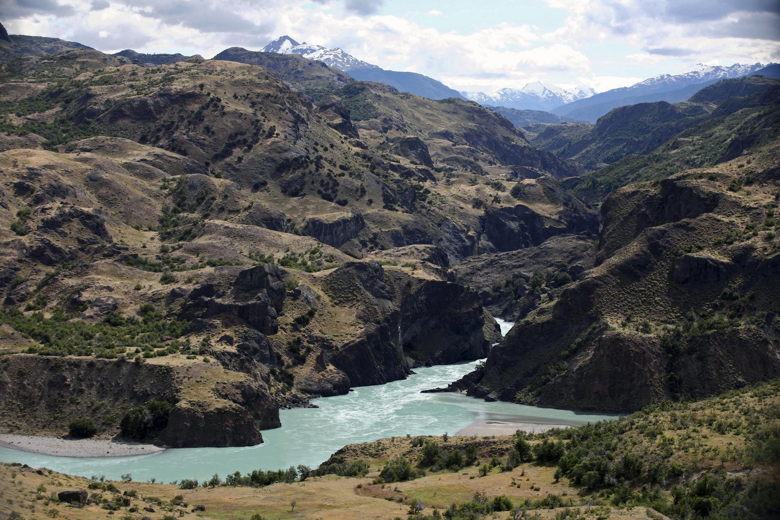 Chile Patagonien Staudamm