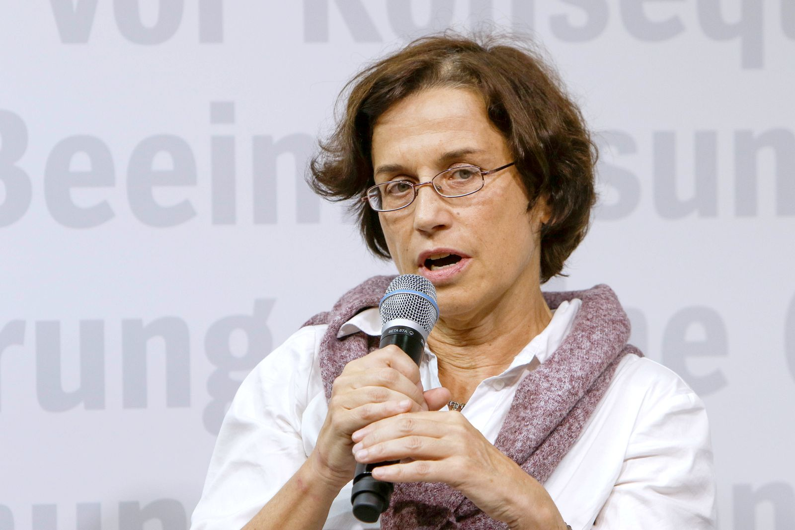 Germany: Frankfurt Book Fair 2019 Day 1 German sociologist Cornelia Koppetsch speaks at the Frankfurt Book Fair. The 71t