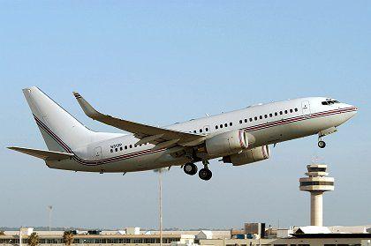 A CIA jet takes off at Palma de Mallorca.