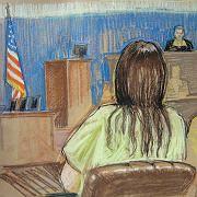 Zeichnung: Terrorverdächtiger Hicks vor Militärkommission