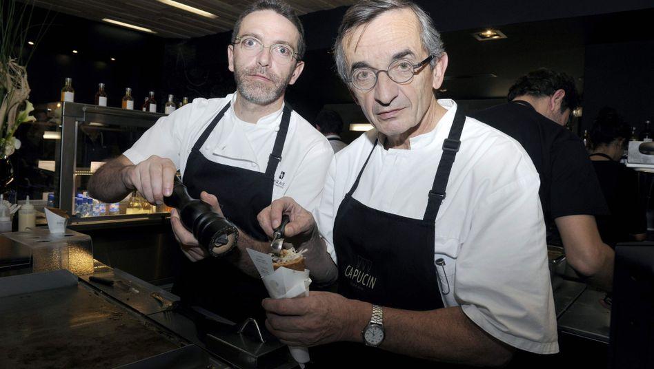Sébastien Bras (l.) und sein Vater Michel Bras