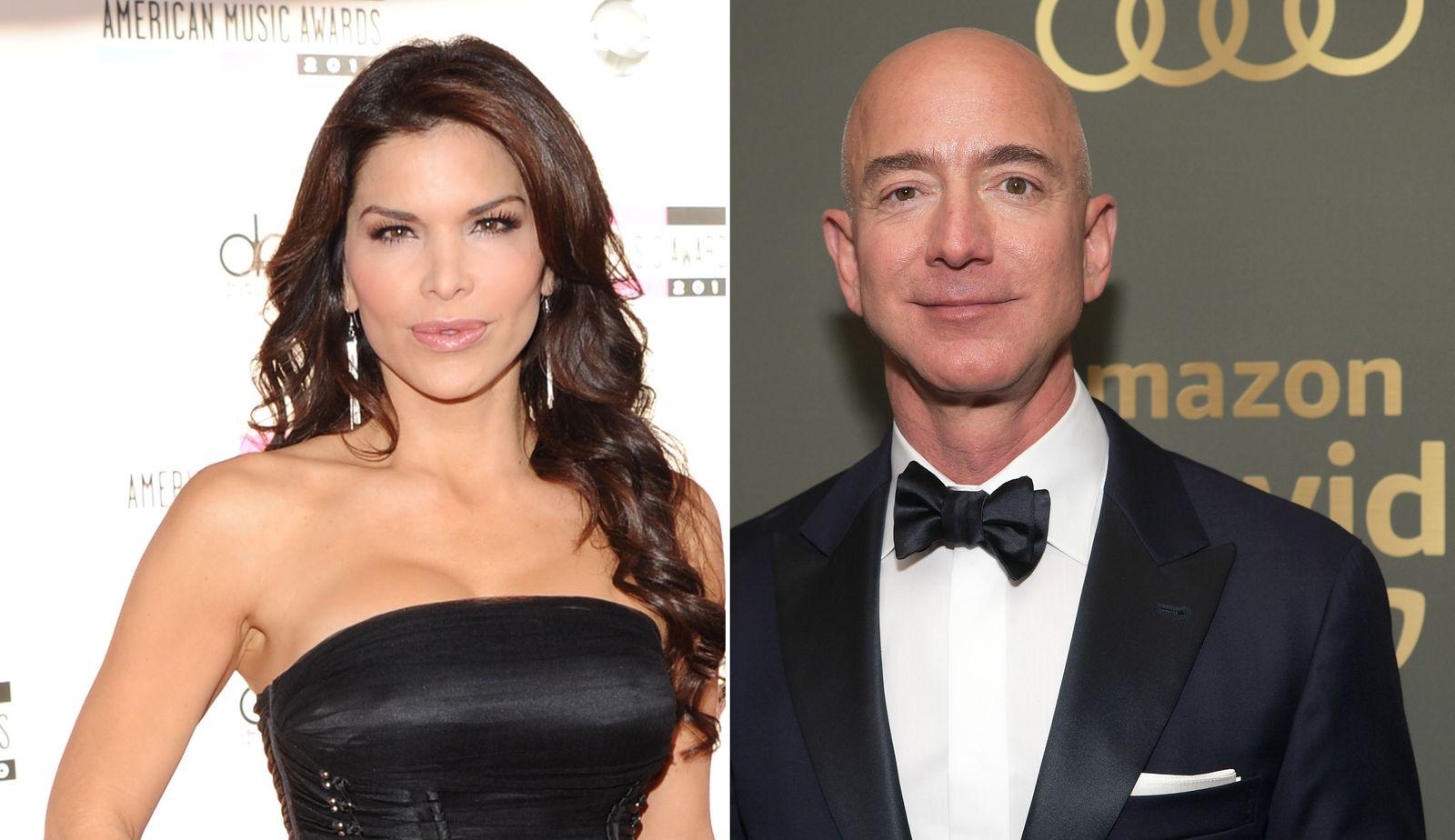 Jeff Bezos und Lauren Sanchez ...