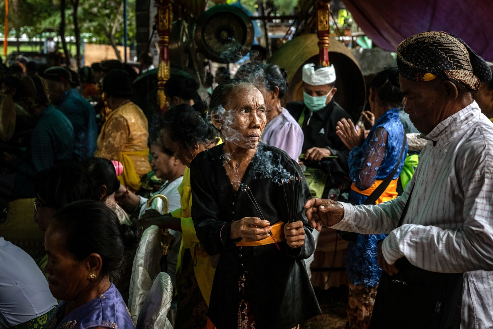 Hindus Gather For The Melasti Ceremony In Indonesia