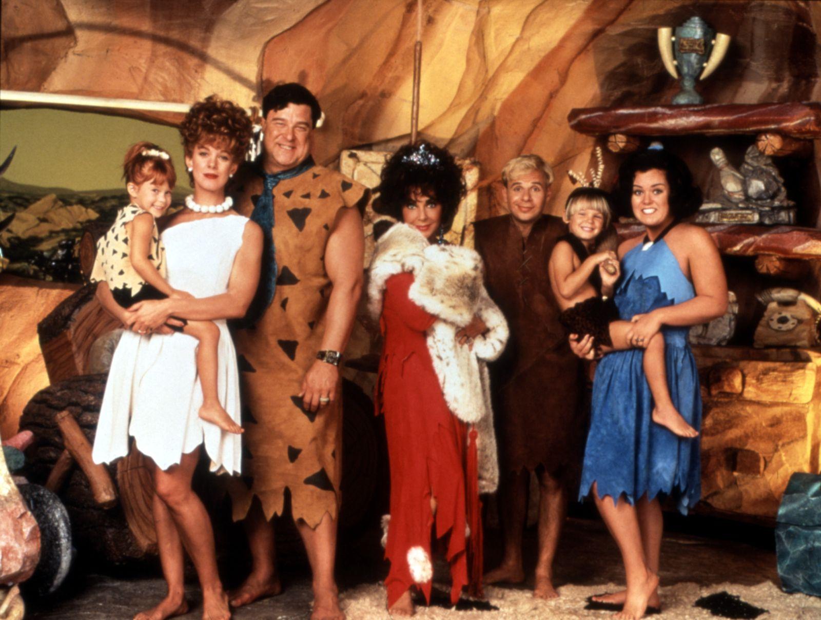 THE FLINTSTONES, Elaine/Melanie Silver, Elizabeth Perkins, John Goodman, Elizabeth Taylor, Rick Mora