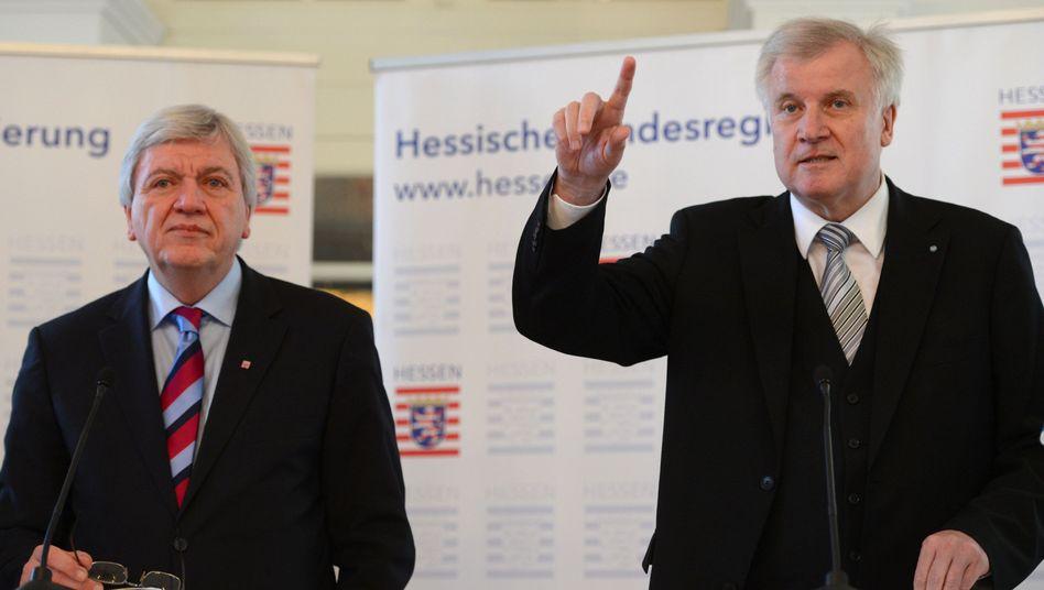 Unionspolitiker Bouffier und Seehofer: Klage gegen den Länderfinanzausgleich