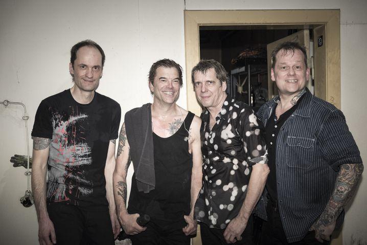 Bandmitglieder der Toten Hosen 2017: Michael Breitkopf, Campino, Andreas Meurer, Andreas von Holst