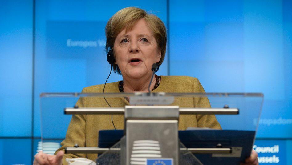 Kanzlerin Merkel nach dem EU-Gipfel: »Ein Stein vom Herzen gefallen«