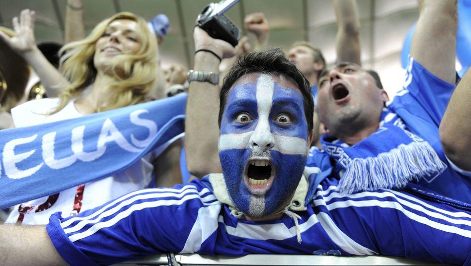 Griechische Fans: Großer Jubel nach Viertelfinaleinzug