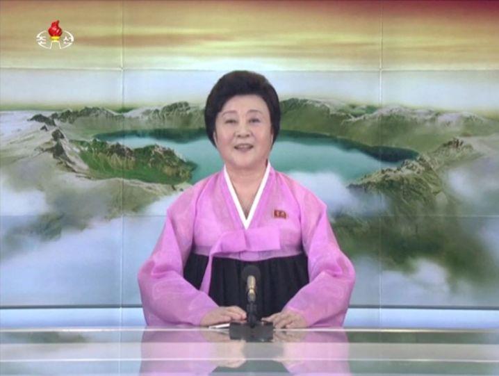 Nordkoreanische Nachrichtensprecherin Ri Chun Hee