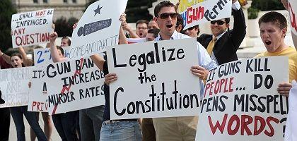"""Waffenbefürworter vor Oberstem US-Gericht: """"Wenn Waffen töten..."""""""