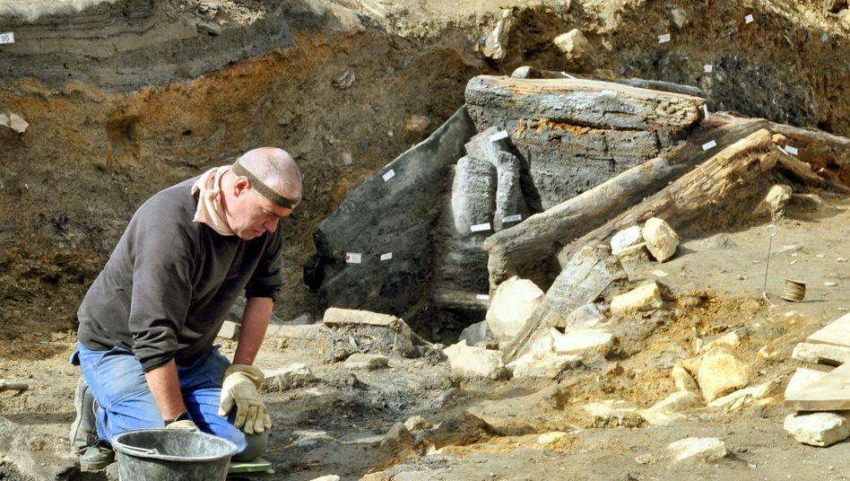 Grabungshelfer am Rammelsberg bei Goslar: 700 Jahre alter Stollen entdeckt