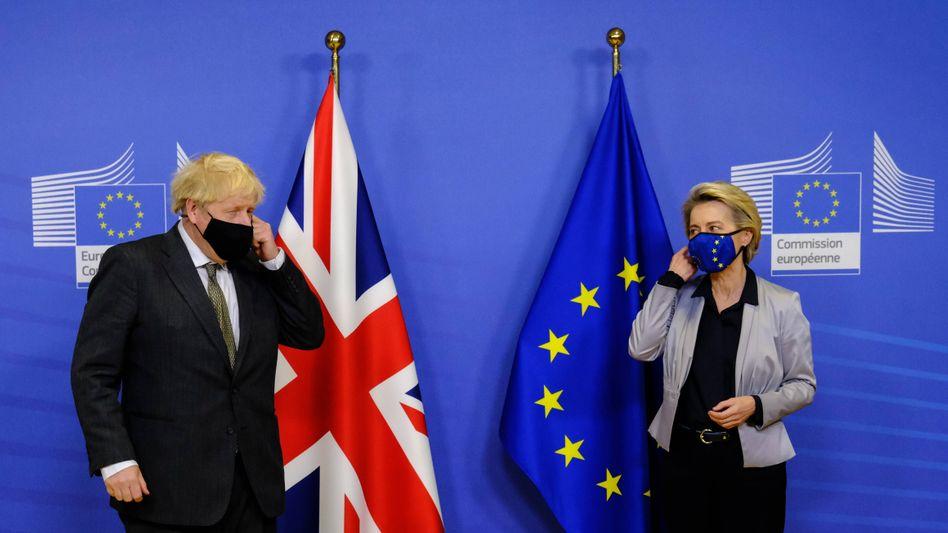Boris Johnson und Ursula von der Leyen (am 9. Dezember)