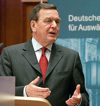 """Altkanzler Schröder: """"Historisches Zeitfenster"""""""