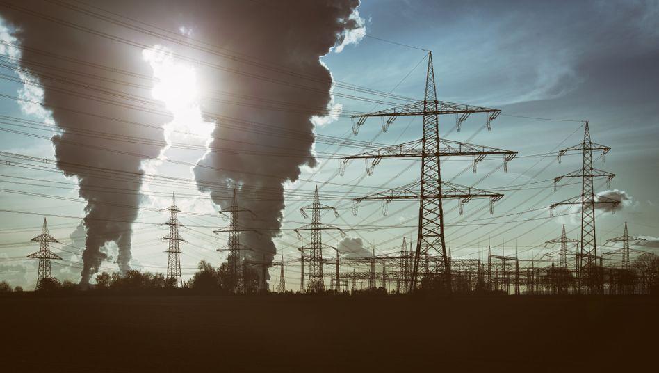 Braunkohlekraftwerk in Deutschland
