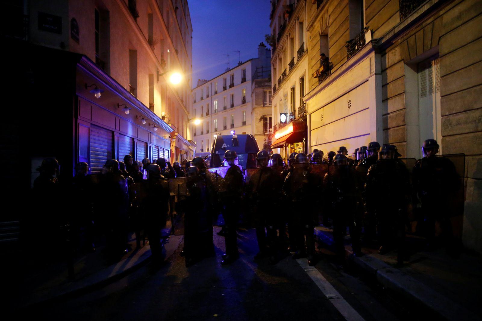 Präsidentenwahl/ Frankreich/ 2017/ Polizisten/ Demonstration