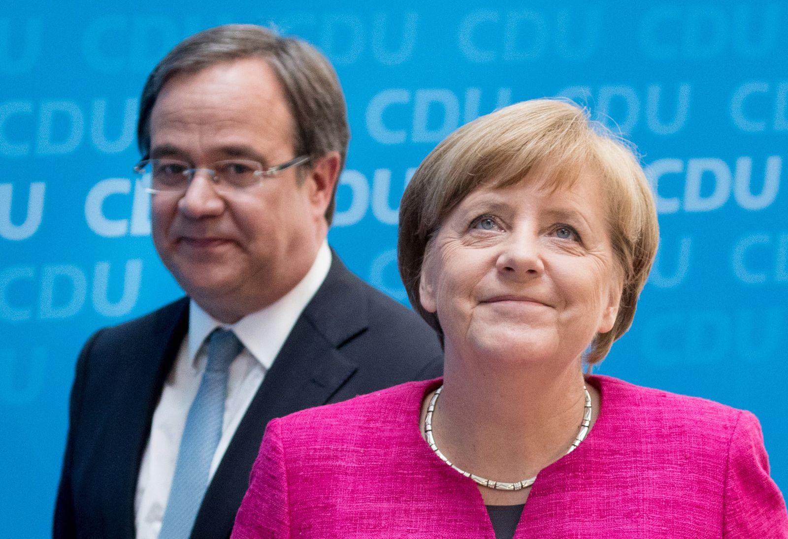 Landtagswahl in NRW / Laschet / Merkel