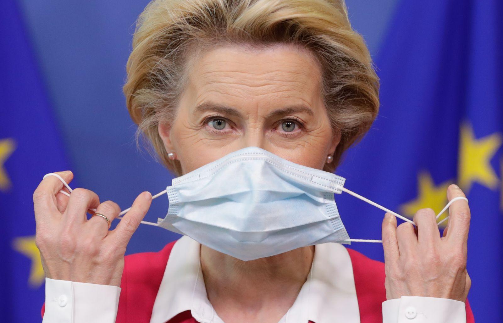 European Commission President Ursula Von Der Leyen to self isolate, Brussels, Belgium - 23 Sep 2020