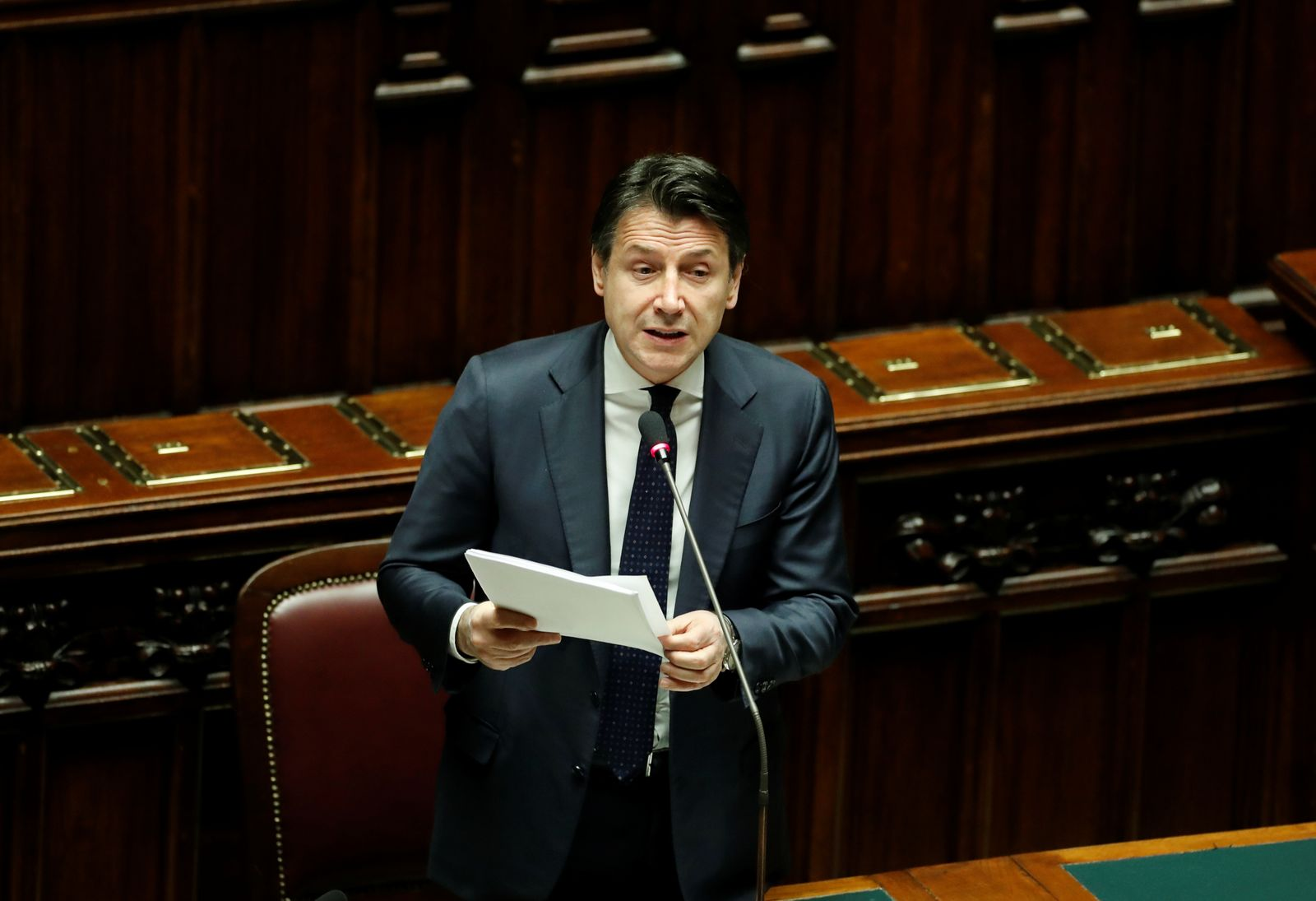 Italian Prime Minister Giuseppe Conte gives an update on the coronavirus outbreak in Italy