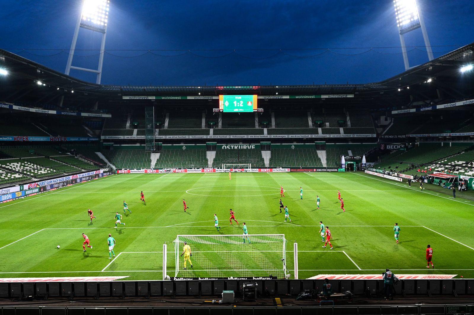 SV Werder Bremen - Bayer 04 Leverkusen, 18.05.2020 Stadionuebersicht waehrend der Begegnung SV Werder Bremen gegen Baye