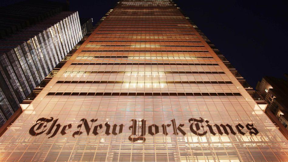 """Das Gebäude der """"New York Times"""" in New York City, New York"""